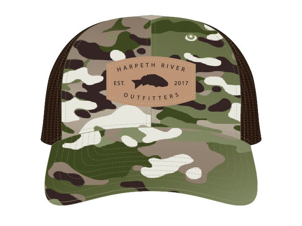 HRO MULTICAM SnapBack Leather Patch Cap