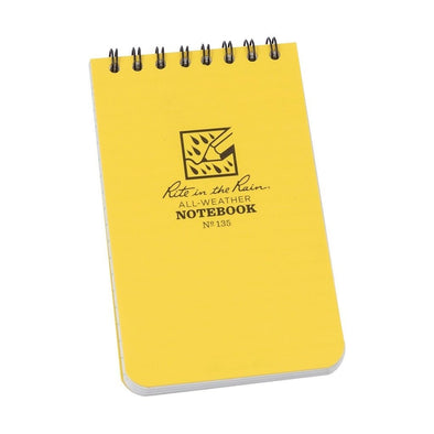 Rite in the Rain 3 x 5 Top Spiral Notebook Cover Yellow