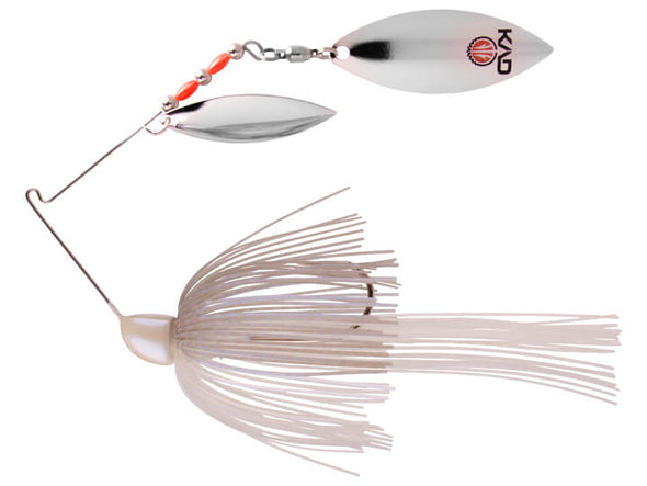 Strike King KVD Finesse Spinnerbait Blue Gizzard Shad Double Silver Willow Leaf Blades