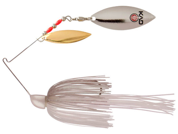 Strike King KVD Finesse Spinnerbait Green Gizzard Shad Double Willow Leaf Blades Gold Silver