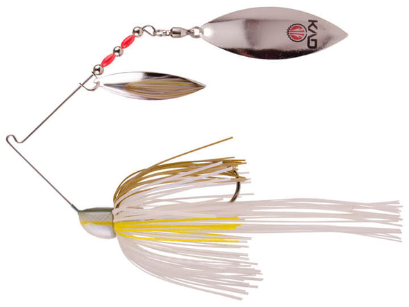Strike King KVD Finesse Spinnerbait Sexy Blue Back Double Silver Willow Leaf Blades