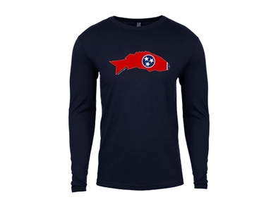 Tennessee Smallmouth Bass Long Sleeve T-Shirt Navy