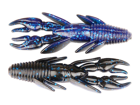 X Zone Lures Punisher Punch Craw Black Blue Lam