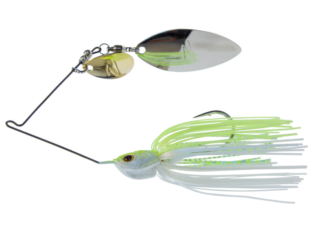 "/""Chartreuse Pearl/"" Z-Man Sling BladeZ Spinnerbait Colorado Willow Blade 3//8 oz"