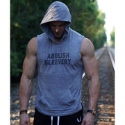 Abolish Sleevery Light Weight Sleeveless Hoodie - Eco Grey