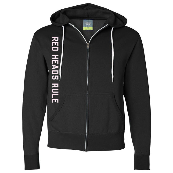 Hey Red - Red Heads Rule Zip Contrast Hoodie