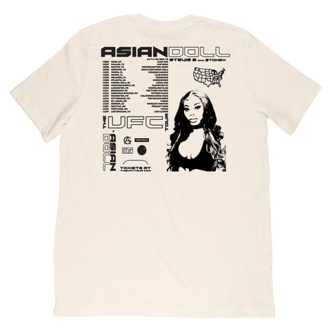 AsianDaBrat - Tour v2 Tee - Natural