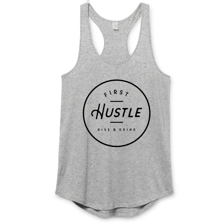 First hustle - Badge Premium Racerback (Ladies)