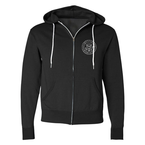 Bailey Sarian - Band Suspish Contrast Zip Hoodie
