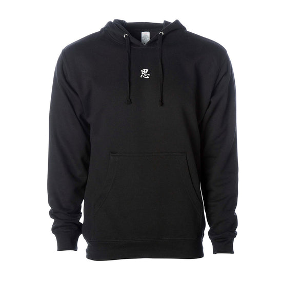 """NAME"" Embroidered Hoodie (Black)"
