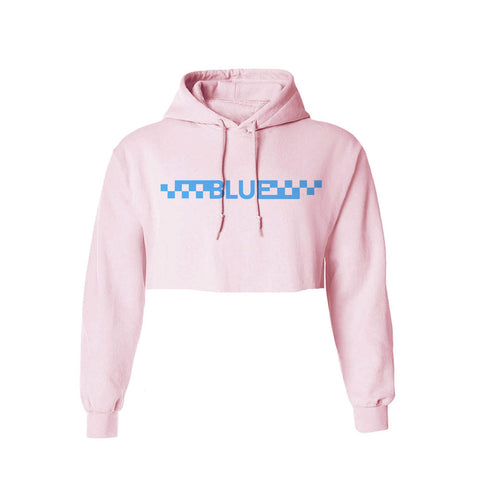Alexi Blue  - Checkered Crop Hoodie