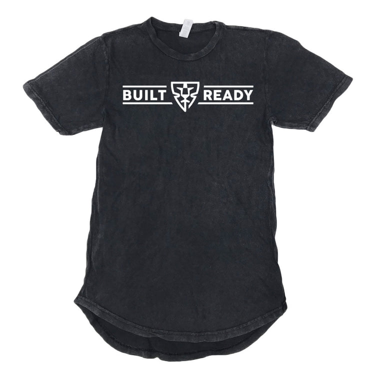 BUILT READY LOGO SCOOP TEE - BLACK