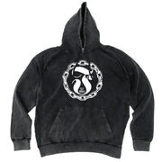 FRESH OUT - CIRCLE VINTAGE HOODIE - BLACK