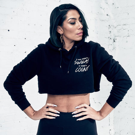 Bridget Kelly - Count Crop Hoodie