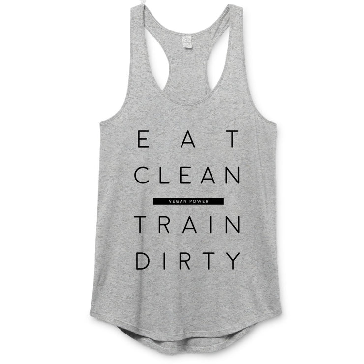 Vegan Power - Eat Clean Premium Racerback