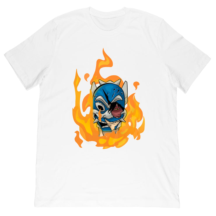 Rufio Uprising -  Flame Mask Tee by @kelfrito.art