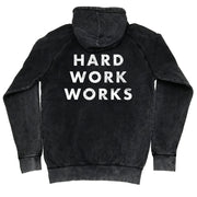 HARD WORK WORKS VINTAGE HOODIE - BLACK