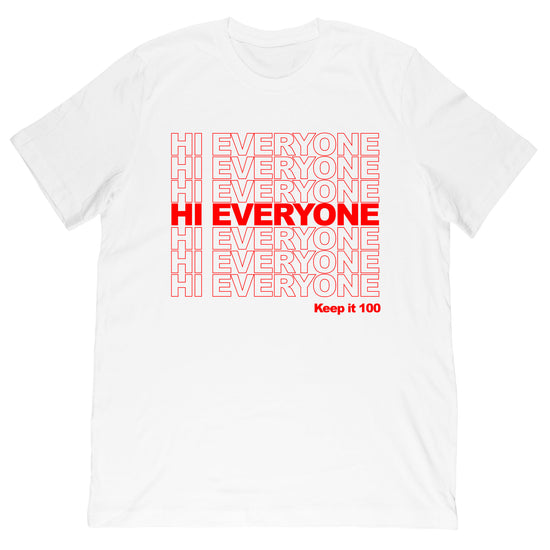 Gabriel Zamora - Hi Everyone Stacked Tee