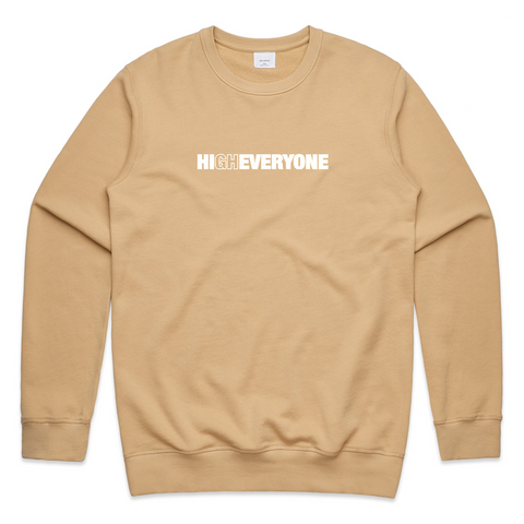 Gabriel Zamora - High Everyone Beige French Terry Sweater