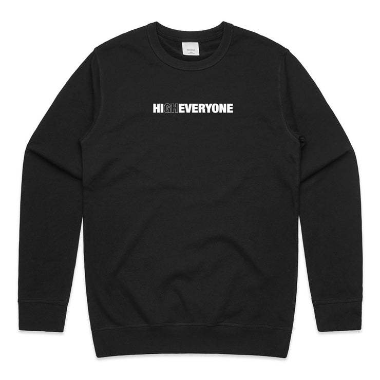 Gabriel Zamora - High Everyone Black French Terry Sweater