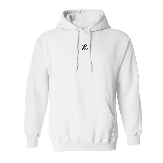 """NAME"" Embroidered Hoodie (White)"