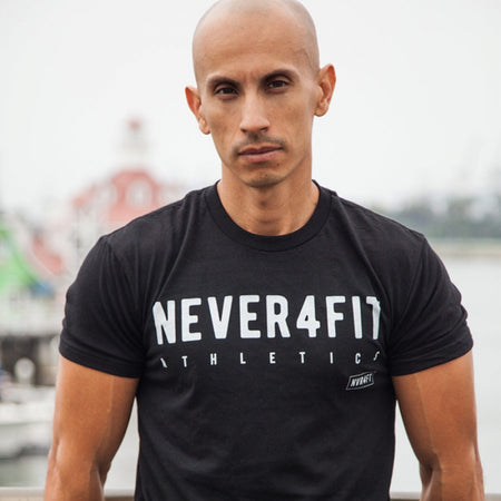 Never4Fit - Icon Tee - Black