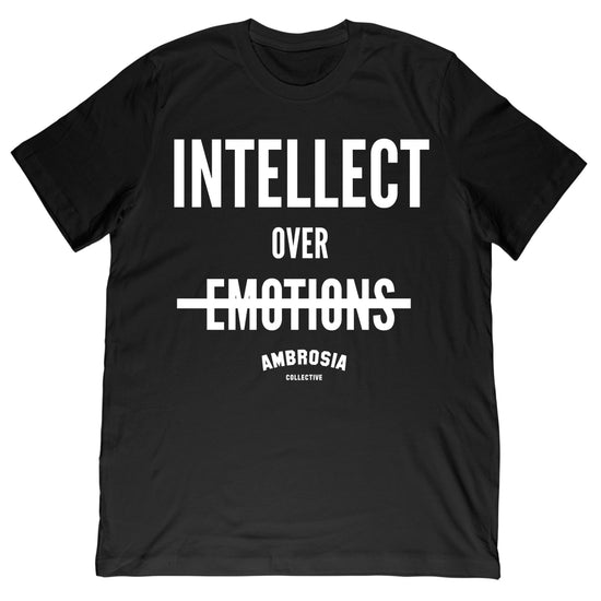 Intellect Over Emotions Tee - Black