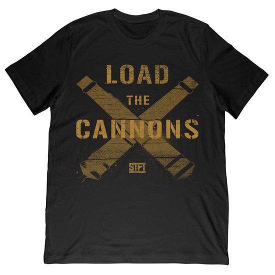 STFT - Load the Cannons Gold Tee - Black