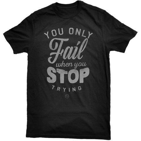 First Hustle - Never Stop Tee Black
