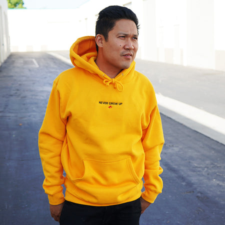 Rufio Uprising - Embroidered Never Grow Up Heavyweight Hoodie [Limited QTY. of 33 Only]