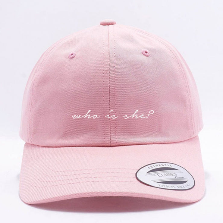 WHO IS SHE? DAD HAT - PINK