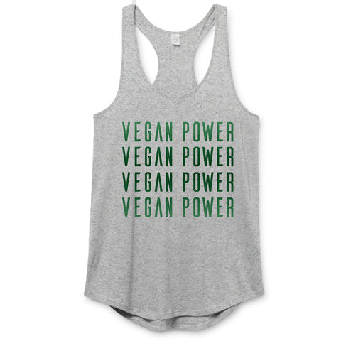 Vegan Power - Repeat Premium Racerback
