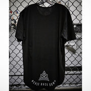 100 SCOOP TEE - BLACK