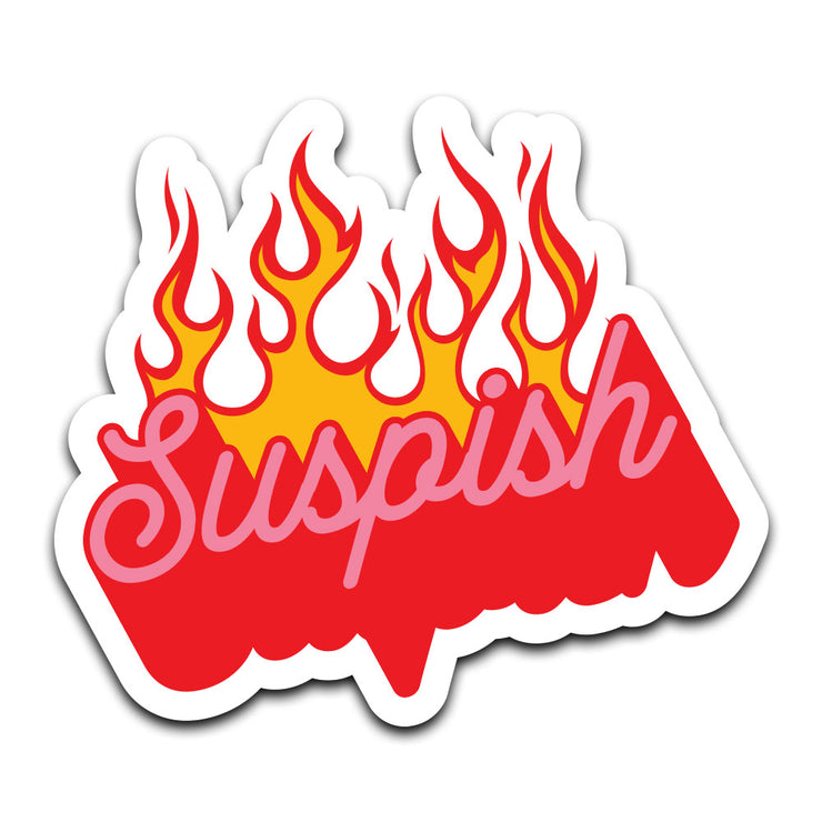 Bailey Sarian - Suspish Flame Sticker