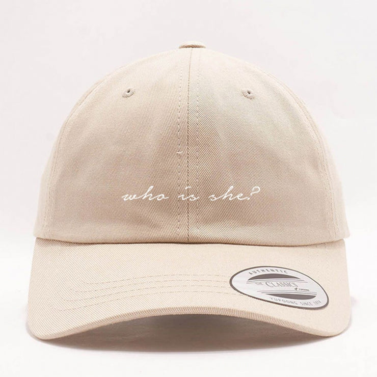 WHO IS SHE? DAD HAT - STONE