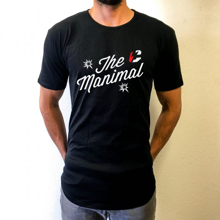 The Manimal Scoop Tee - Black