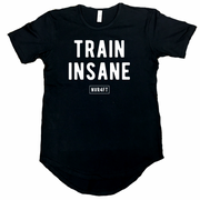 Never4Fit - Train Insane Scoop Tee - Black