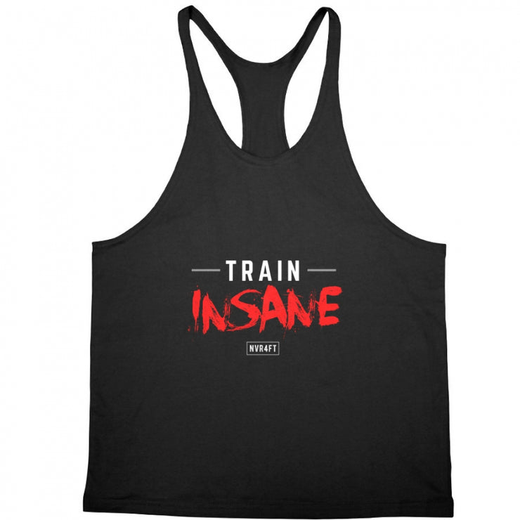 Never4Fit - Train Insane Red Stringer - Black