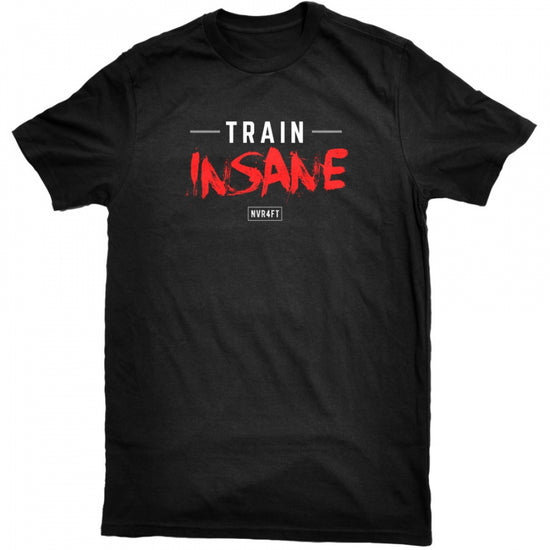 Never4Fit - Train Insane Red Tee - Black