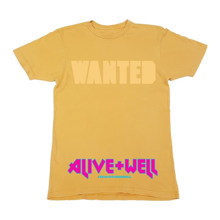 Wanted Vintage Yellow Tee