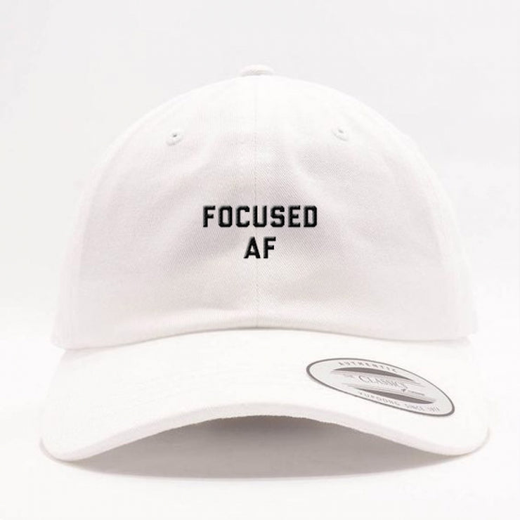 Focused AF Dad Hat - White