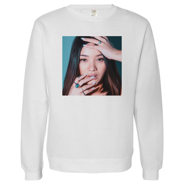 BAD BITCH Crewneck Sweater (White)