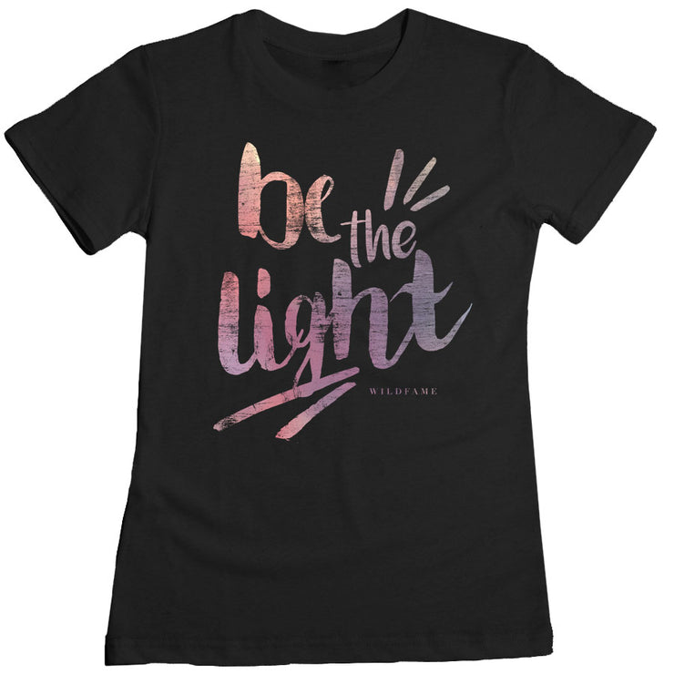 Wild Fame - Be The Light Women's Tee - Black