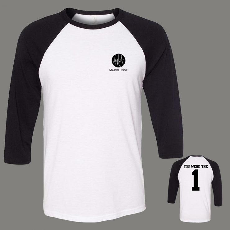 You Were The One Raglan - Black
