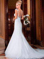 Mermaid Wedding Dresses vestido de noiva manga longa Backless Sweetheart Sleeveless White Long Bride Gown