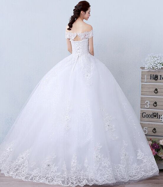 Autumn and Winter  long trailing luxury princess wedding dress top quality bride dress