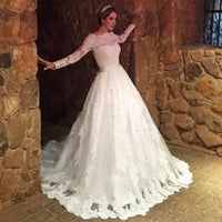 Vestidos de Noiva Lace Ball Gown Wedding Dresses Vintage Long Sleeves Wedding Dress Robe de Mariage Vestido De Casamento