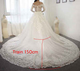 2016 new arrival wedding dress two in one wedding dress