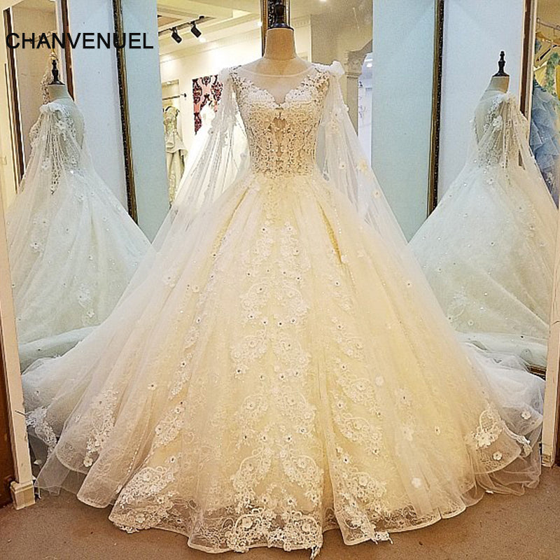 9ec40ac127 LS00013 gorgeous bridal gown sexy see through back ball gown lace wedd –  Azongalbridal