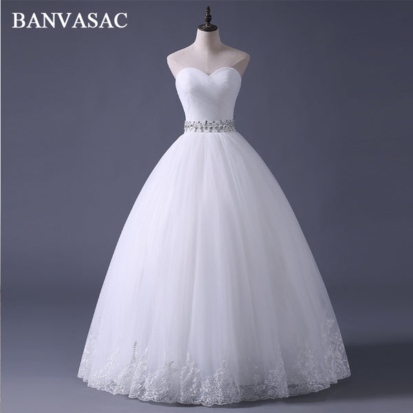 BANVASAC Free Shipping 2017 New Arrival Bridal Wedding Dress,Wedding Gown W0308